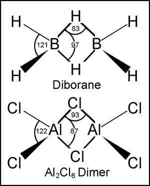 Parsing the Bonding in the Aluminum Trichloride Dimer B2h6 Lewis Structure